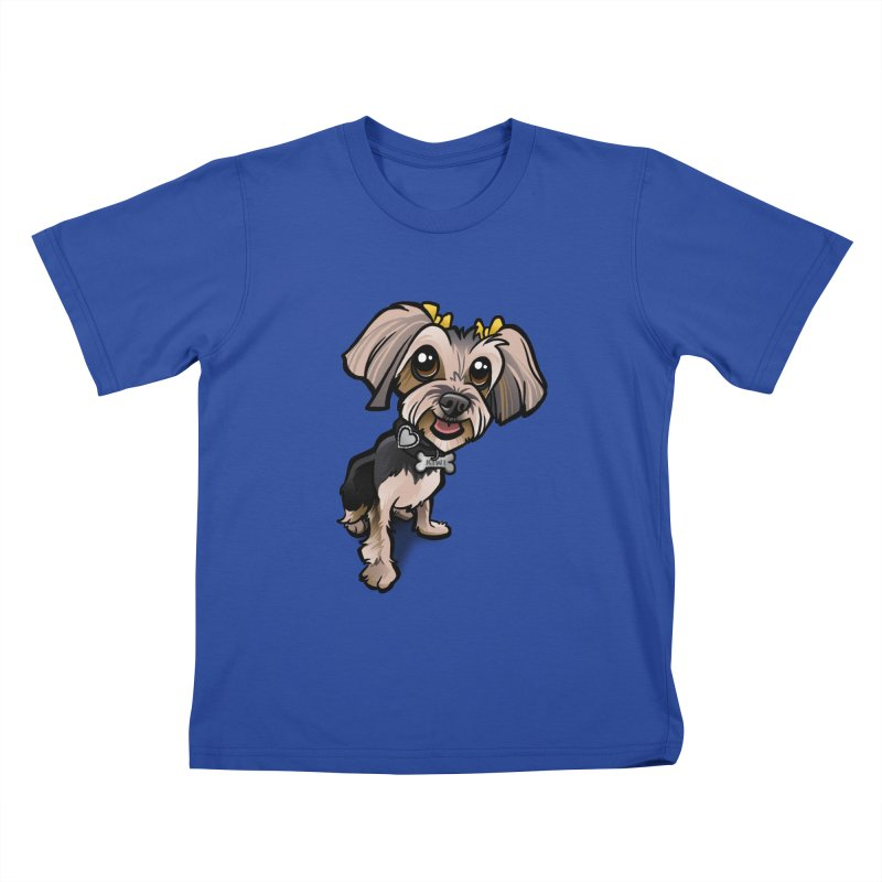 Yorkie Kids T-Shirt by binarygod's Artist Shop