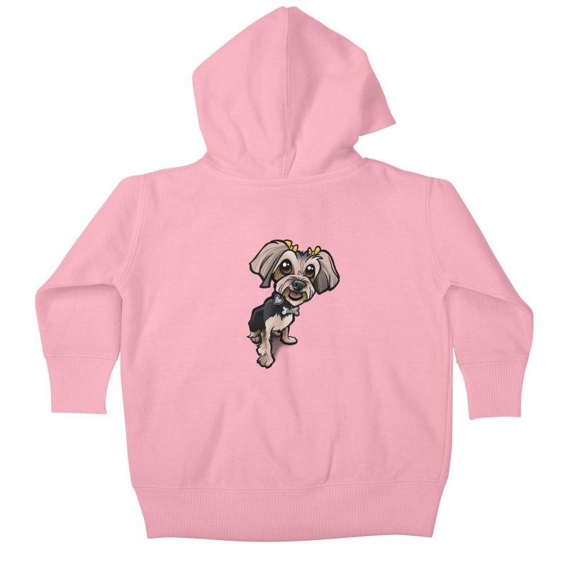 Yorkie Kids Baby Zip-Up Hoody by binarygod's Artist Shop