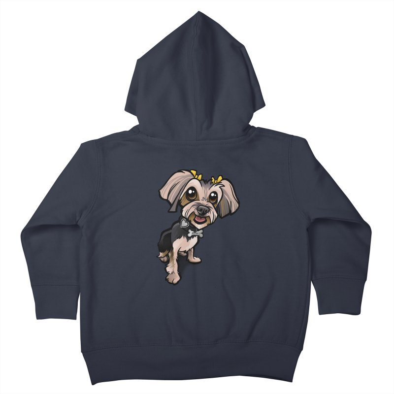 Yorkie Kids Toddler Zip-Up Hoody by binarygod's Artist Shop