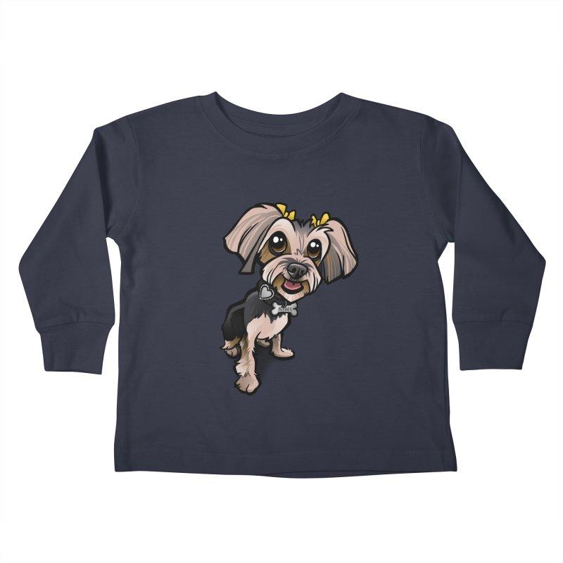 Yorkie Kids Toddler Longsleeve T-Shirt by binarygod's Artist Shop