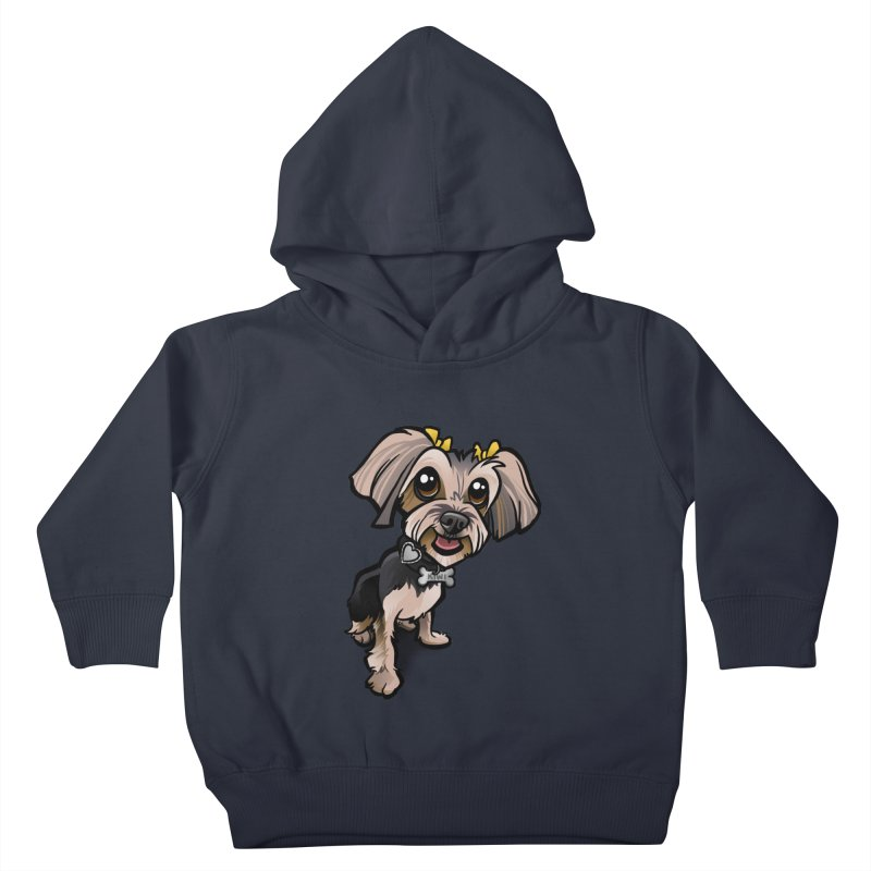 Yorkie Kids Toddler Pullover Hoody by binarygod's Artist Shop