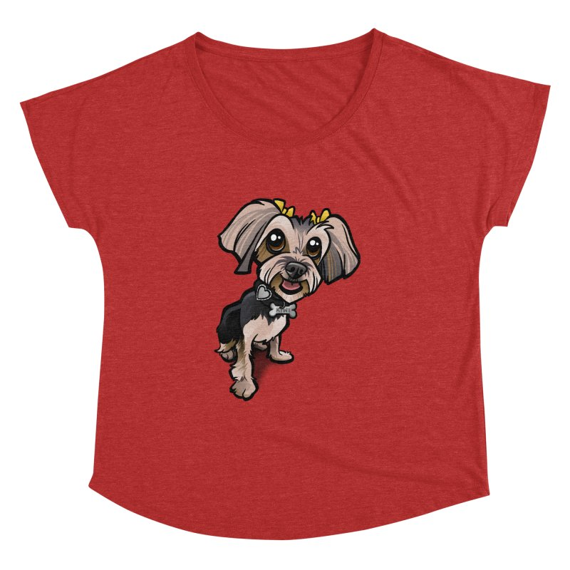 Yorkie Women's Dolman Scoop Neck by binarygod's Artist Shop