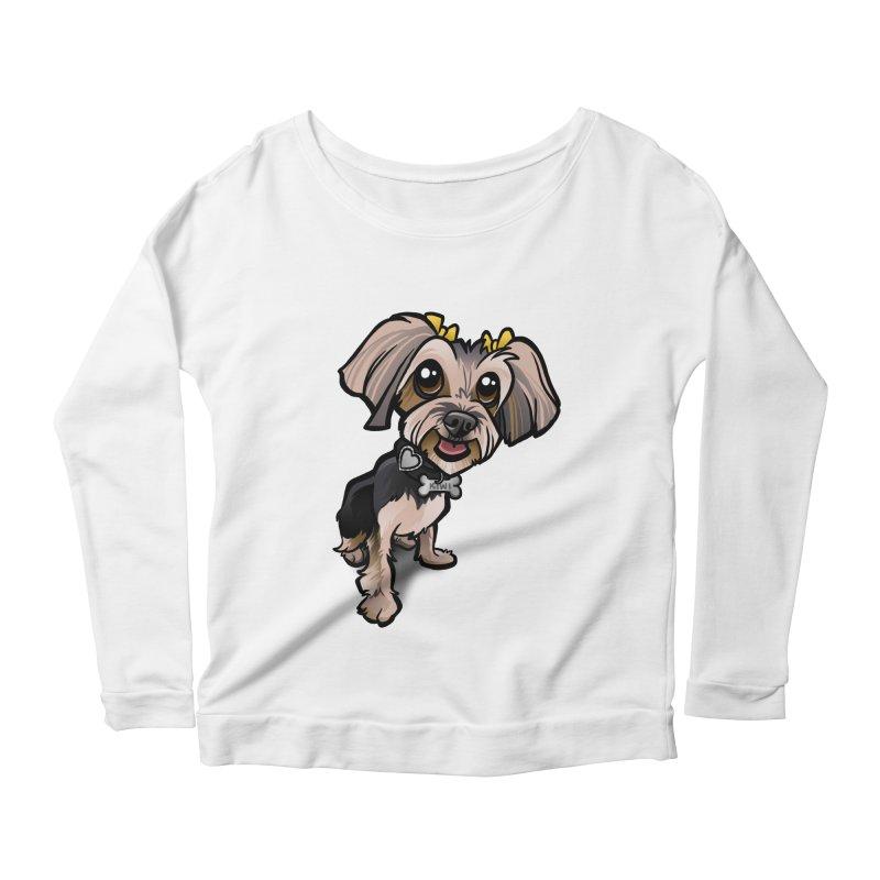 Yorkie Women's Scoop Neck Longsleeve T-Shirt by binarygod's Artist Shop