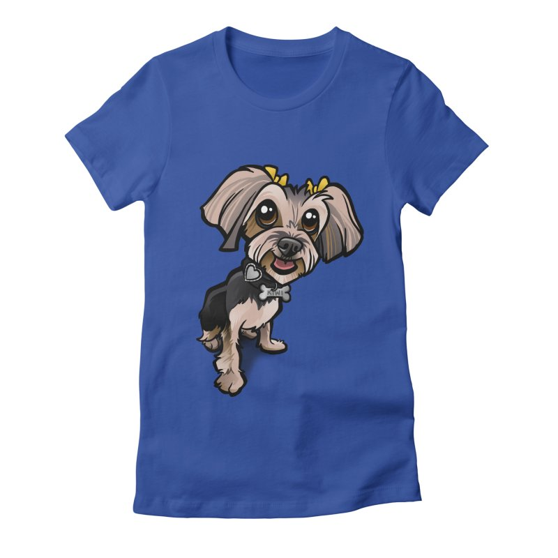 Yorkie Women's Fitted T-Shirt by binarygod's Artist Shop