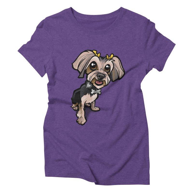 Yorkie Women's Triblend T-shirt by binarygod's Artist Shop