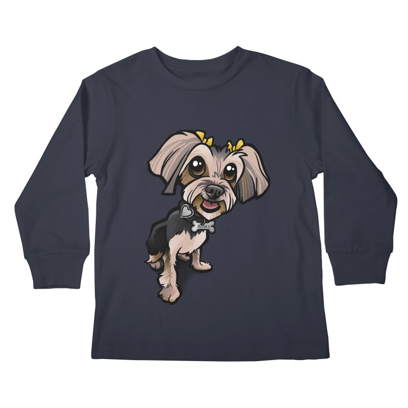 Yorkie Kids Longsleeve T-Shirt by binarygod's Artist Shop