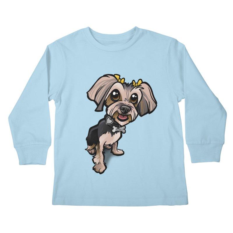 Yorkie Kids Longsleeve T-Shirt by binarygod's Artist Shop