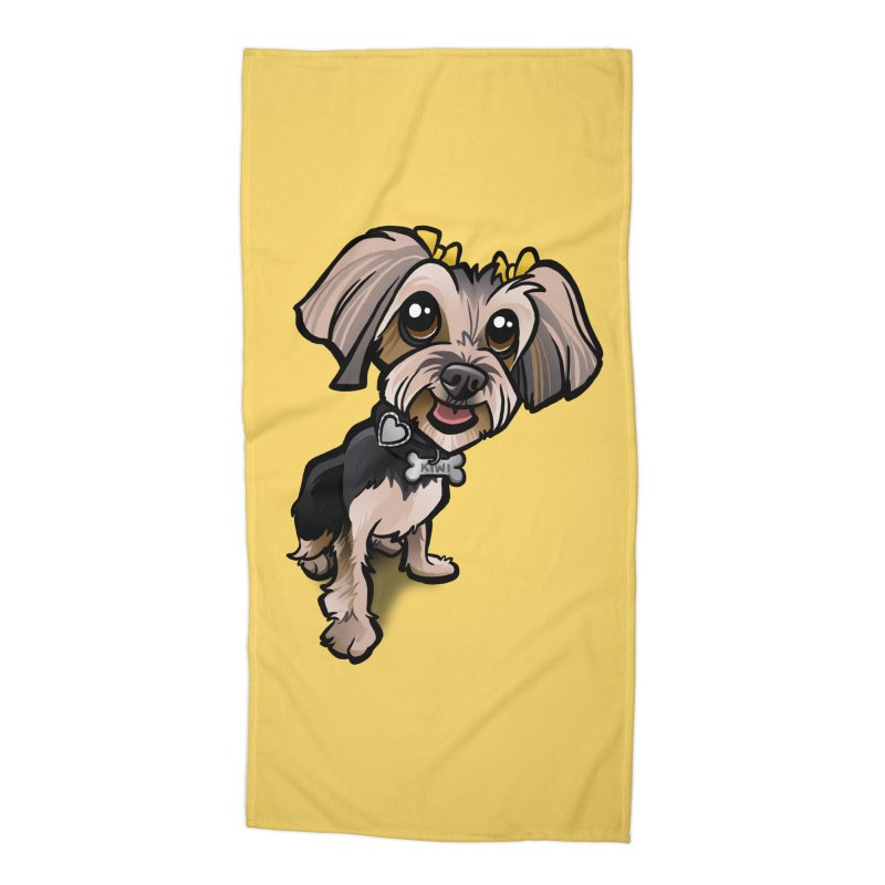 Yorkie Accessories Beach Towel by binarygod's Artist Shop
