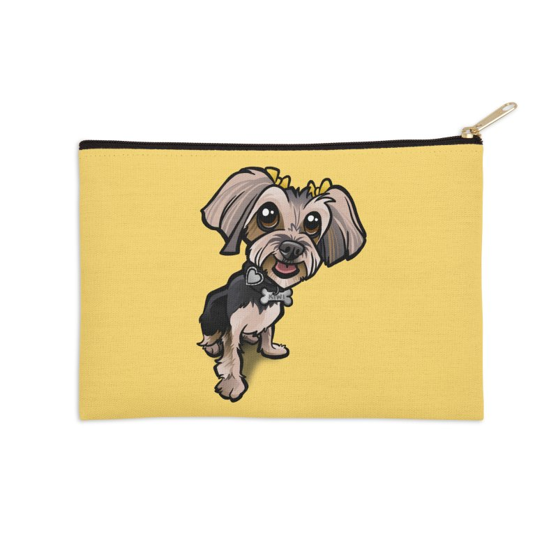 Yorkie Accessories Zip Pouch by binarygod's Artist Shop