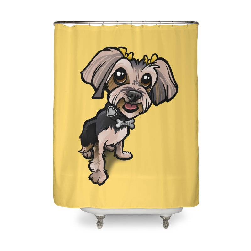 Yorkie Home Shower Curtain by binarygod's Artist Shop