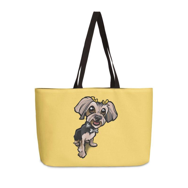 Yorkie Accessories Weekender Bag Bag by binarygod's Artist Shop