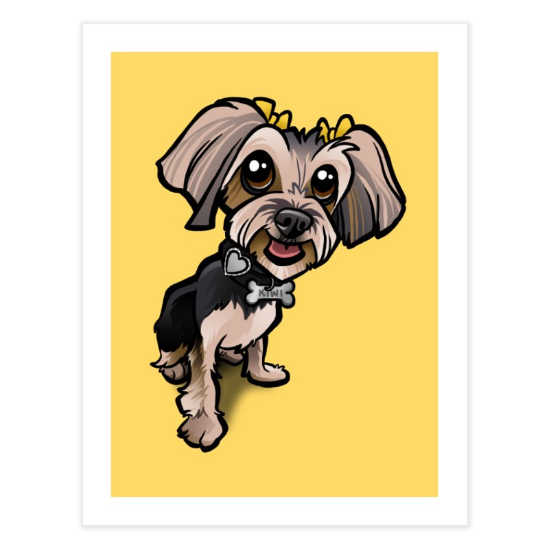 Yorkie Home Fine Art Print by binarygod's Artist Shop