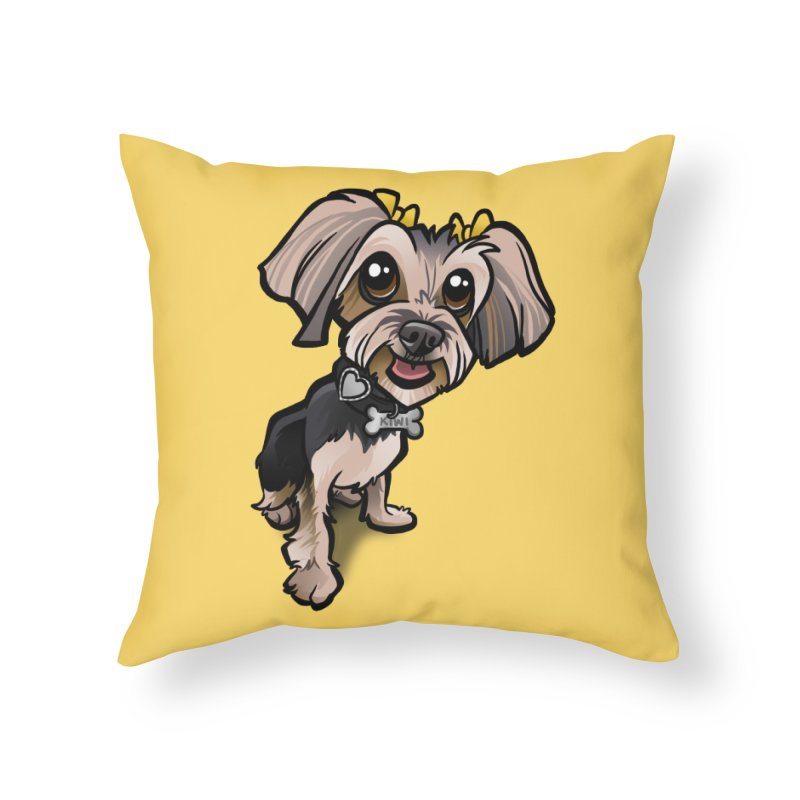 Yorkie Home Throw Pillow by binarygod's Artist Shop