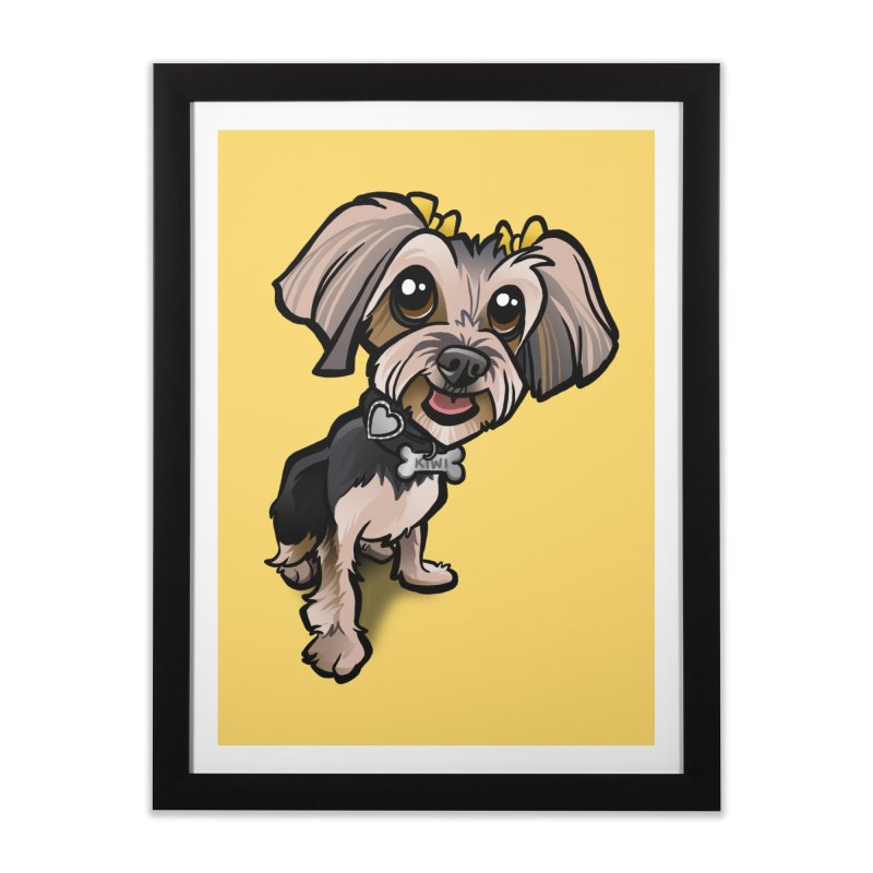 Yorkie Home Framed Fine Art Print by binarygod's Artist Shop