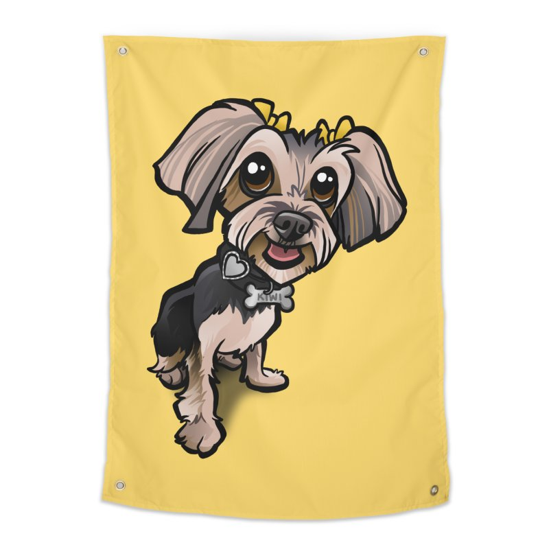 Yorkie Home Tapestry by binarygod's Artist Shop