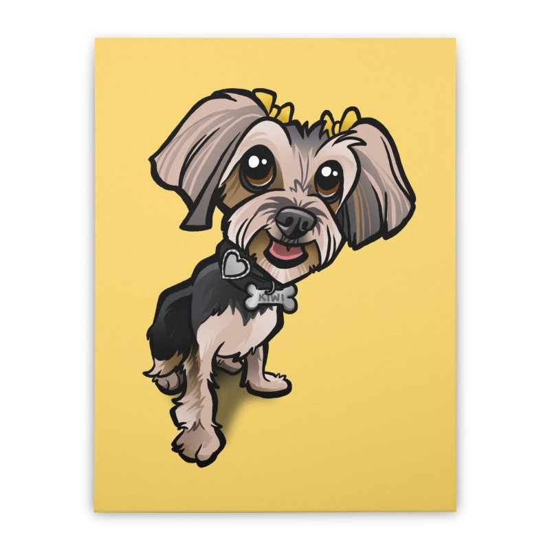 Yorkie Home Stretched Canvas by binarygod's Artist Shop