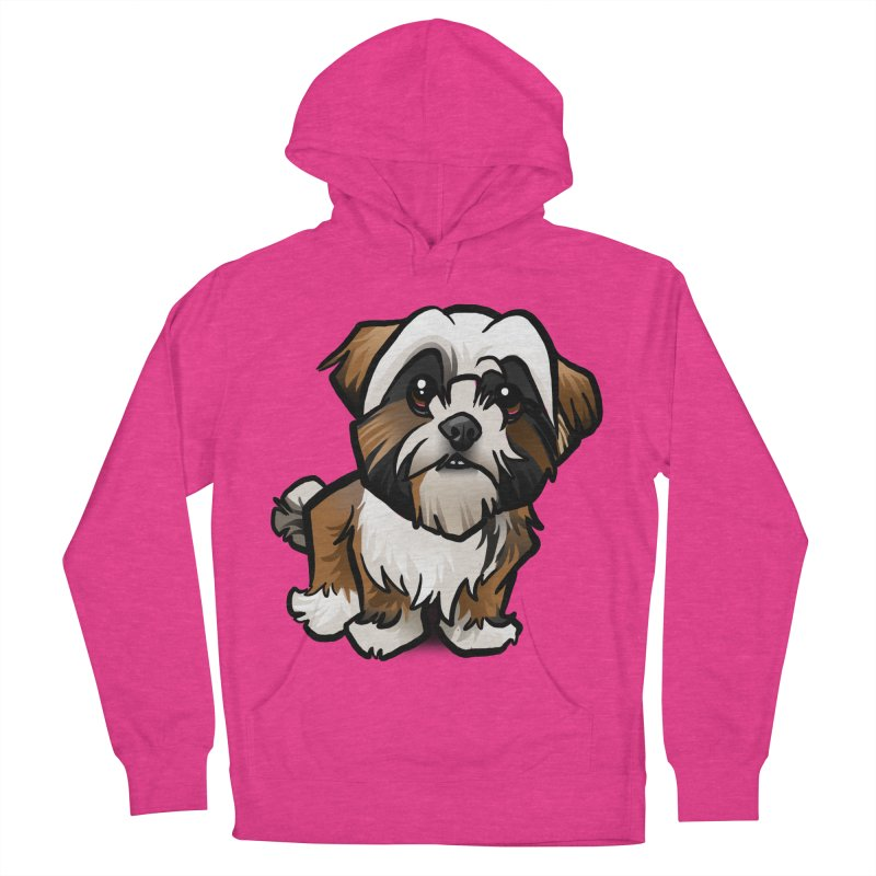 Shih Tzu Men's French Terry Pullover Hoody by binarygod's Artist Shop