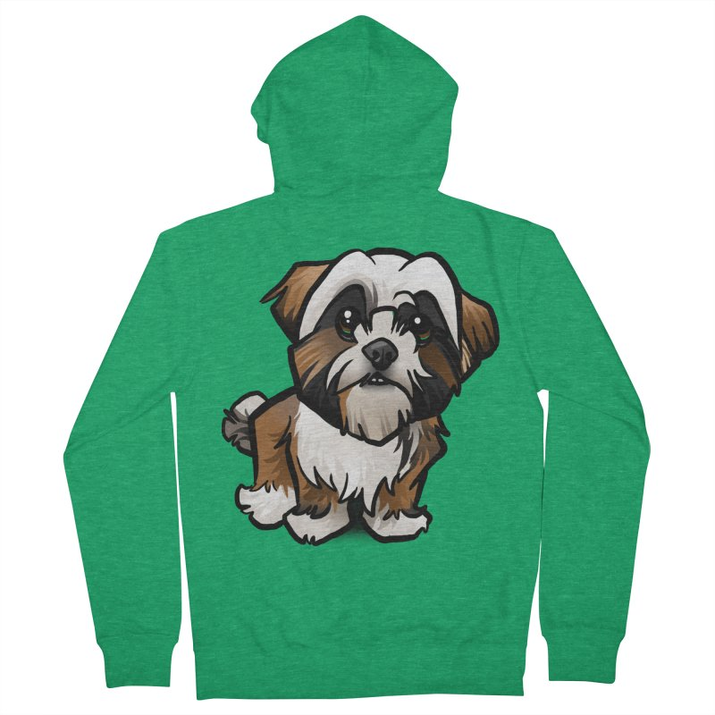 Shih Tzu Women's French Terry Zip-Up Hoody by binarygod's Artist Shop
