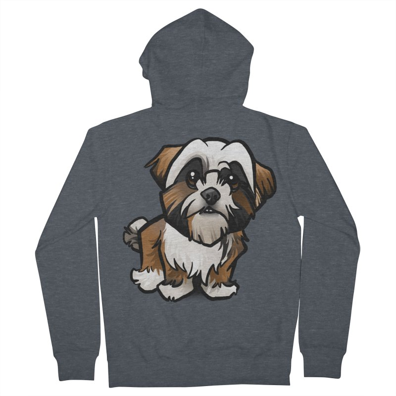 Shih Tzu Women's Zip-Up Hoody by binarygod's Artist Shop