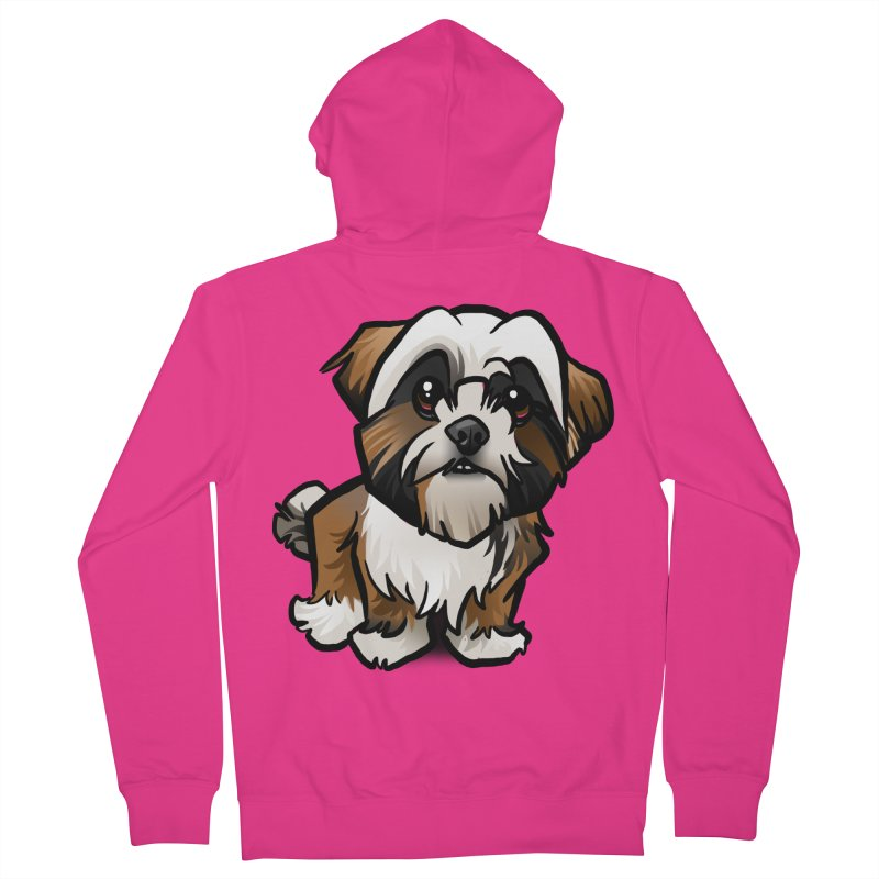 Shih Tzu Men's French Terry Zip-Up Hoody by binarygod's Artist Shop