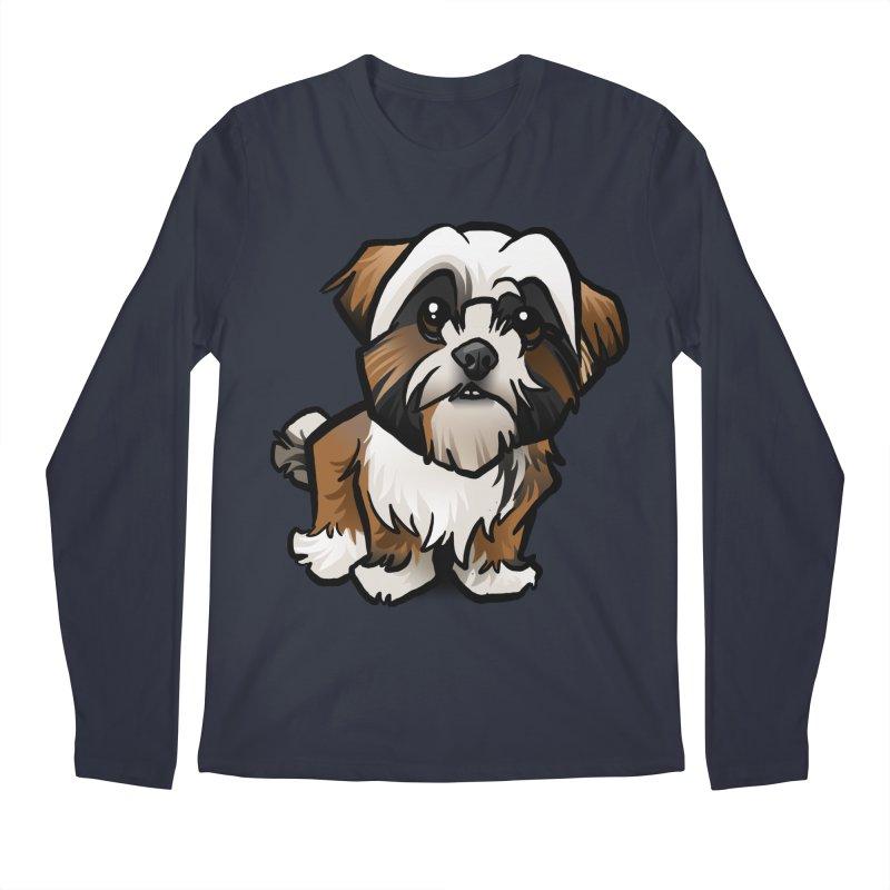 Shih Tzu Men's Regular Longsleeve T-Shirt by binarygod's Artist Shop
