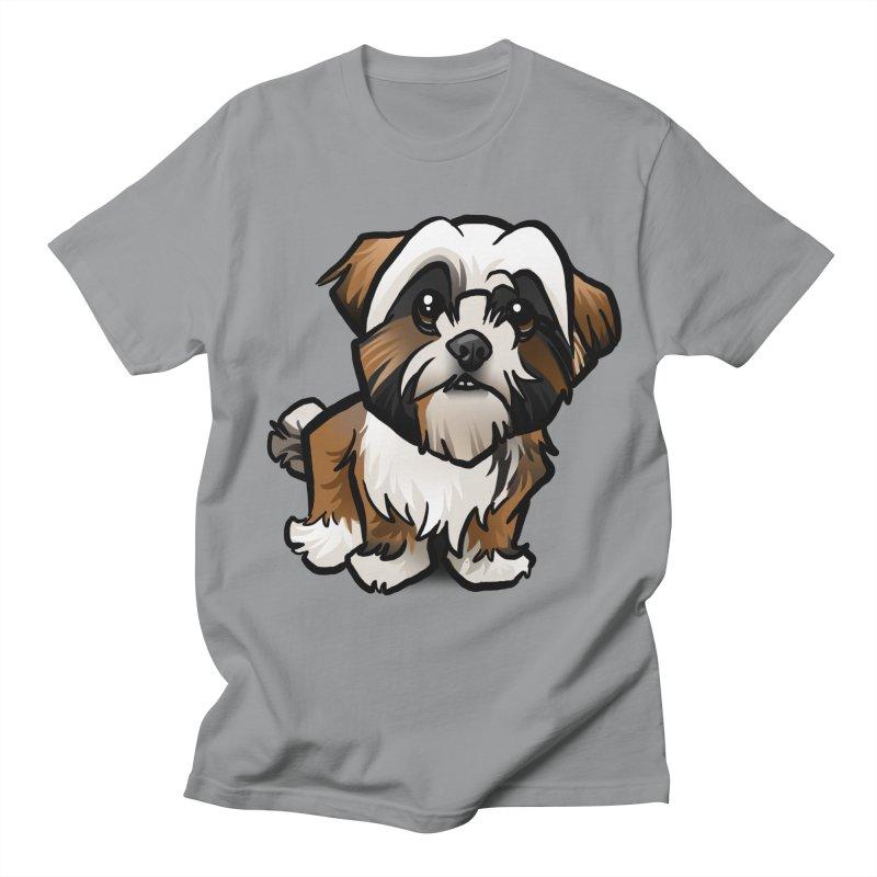 Shih Tzu Men's Regular T-Shirt by binarygod's Artist Shop