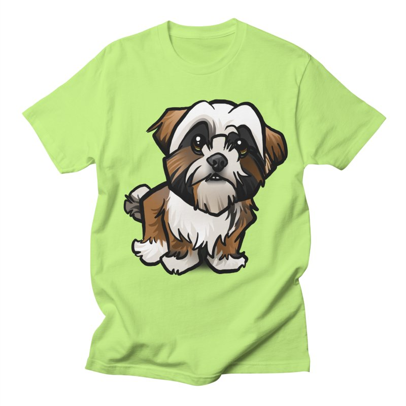 Shih Tzu Men's Regular T-Shirt by binarygod's Artist Shop