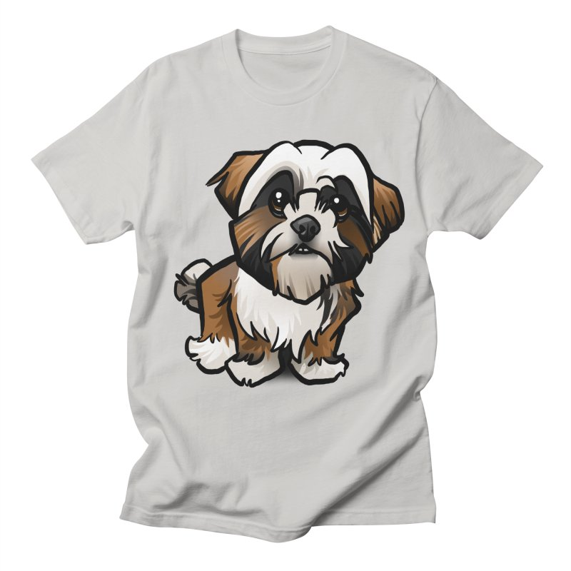 Shih Tzu Women's Regular Unisex T-Shirt by binarygod's Artist Shop