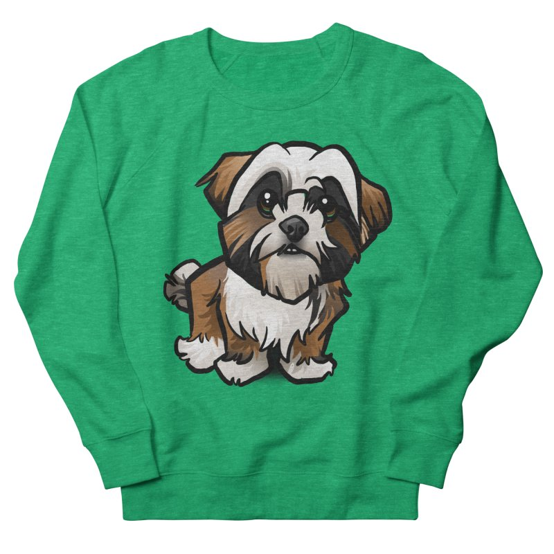 Shih Tzu Women's French Terry Sweatshirt by binarygod's Artist Shop
