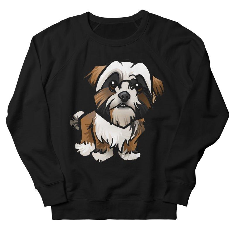Shih Tzu Women's French Terry Sweatshirt by binarygod's Artist Shop