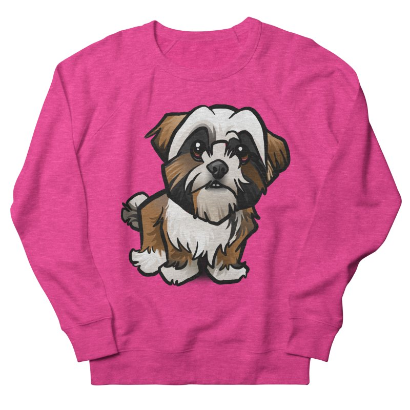 Shih Tzu Men's French Terry Sweatshirt by binarygod's Artist Shop