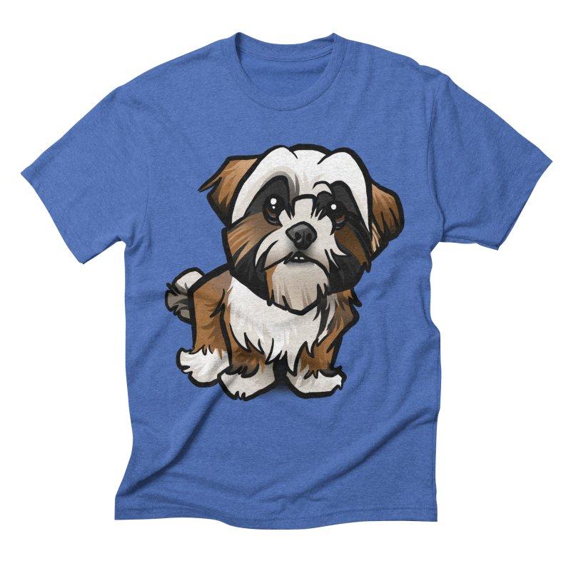 Shih Tzu Men's Triblend T-Shirt by binarygod's Artist Shop