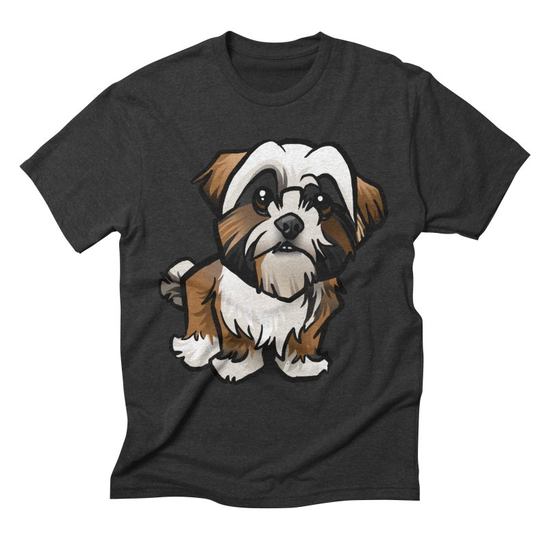 Shih Tzu Men's Triblend T-Shirt by binarygod's Artist Shop