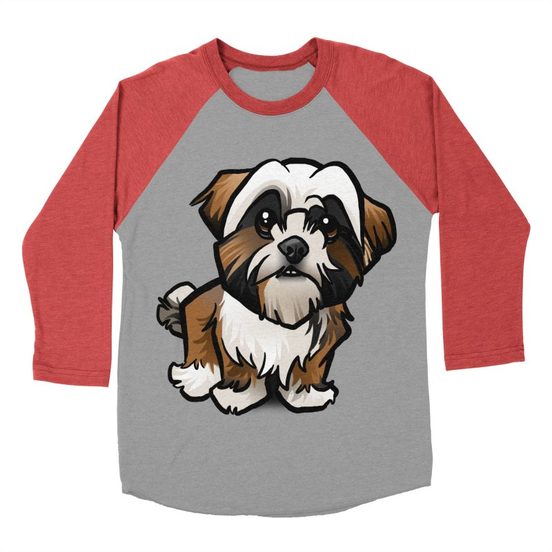 Shih Tzu Men's Baseball Triblend Longsleeve T-Shirt by binarygod's Artist Shop