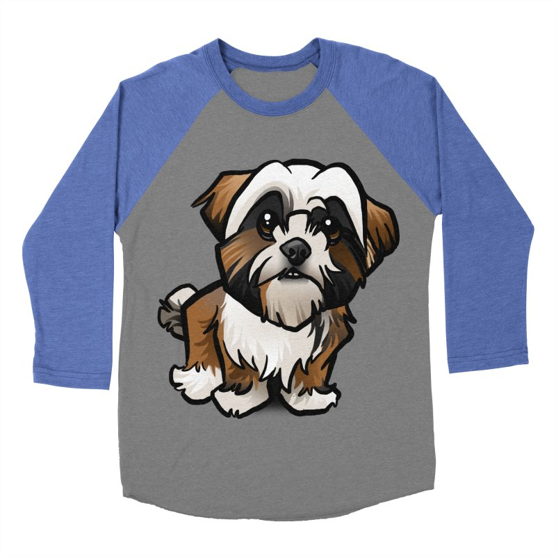 Shih Tzu Men's Baseball Triblend Longsleeve T-Shirt by binarygod's Artist Shop