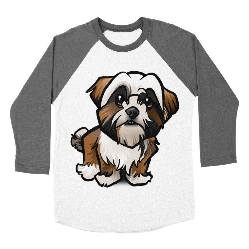 Shih Tzu Men's Baseball Triblend T-Shirt by binarygod's Artist Shop