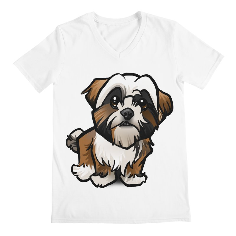 Shih Tzu Men's Regular V-Neck by binarygod's Artist Shop
