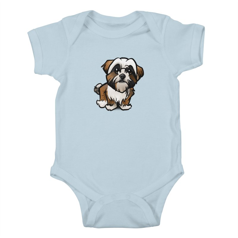 Shih Tzu Kids Baby Bodysuit by binarygod's Artist Shop