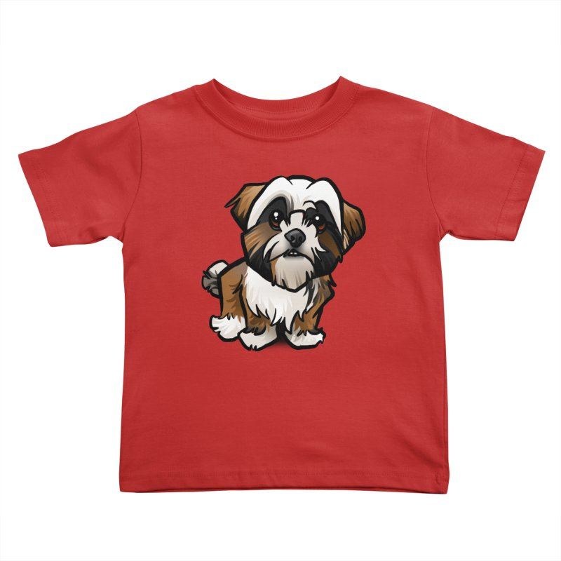 Shih Tzu Kids Toddler T-Shirt by binarygod's Artist Shop