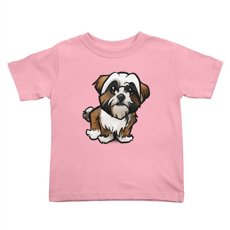 Shih Tzu Kids Toddler T-Shirt by binarygod's Artist Shop