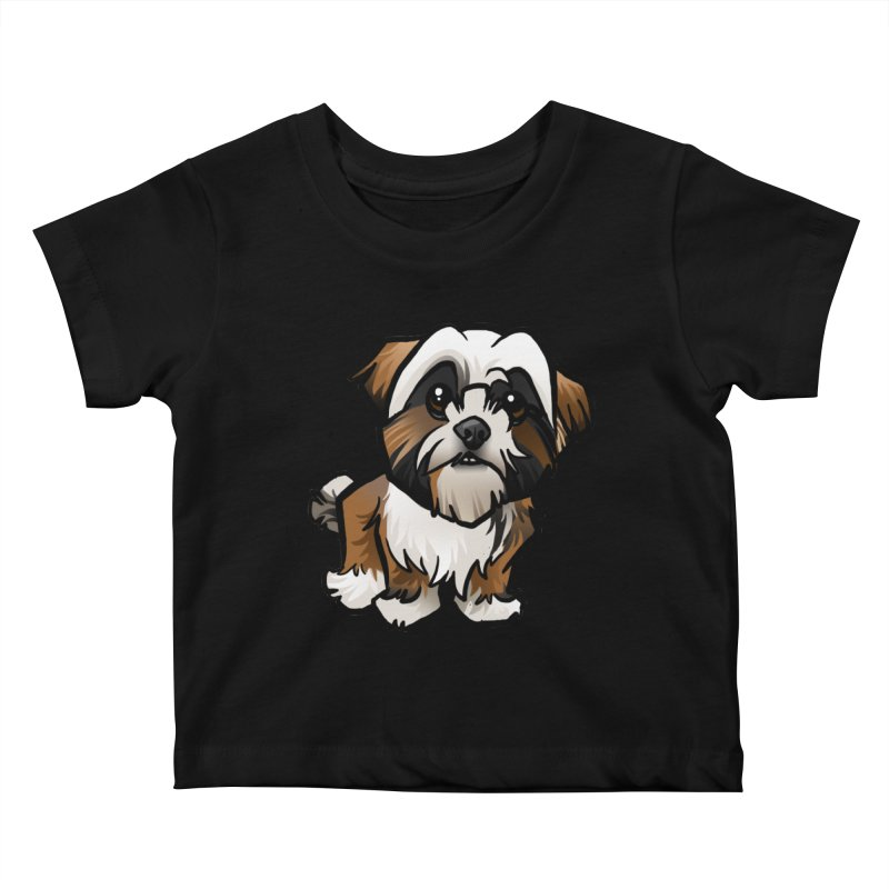 Shih Tzu Kids Baby T-Shirt by binarygod's Artist Shop