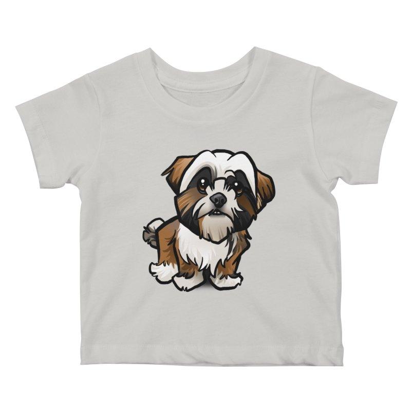 Shih Tzu Kids Baby T-Shirt by binarygod's Artist Shop