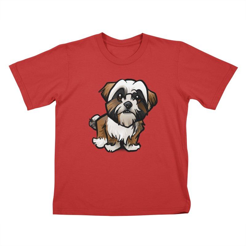 Shih Tzu Kids T-Shirt by binarygod's Artist Shop
