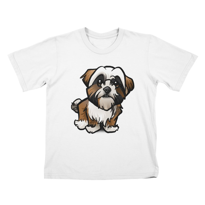 Shih Tzu Kids T-Shirt by binarygod's Artist Shop