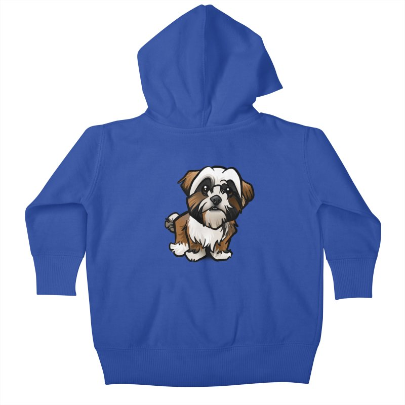 Shih Tzu Kids Baby Zip-Up Hoody by binarygod's Artist Shop