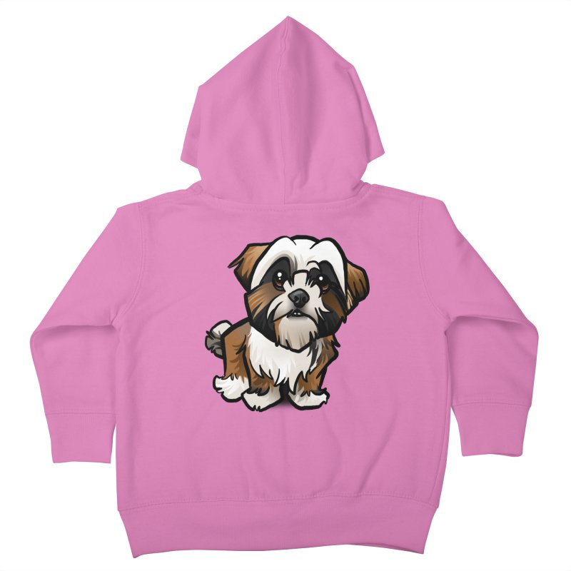 Shih Tzu Kids Toddler Zip-Up Hoody by binarygod's Artist Shop