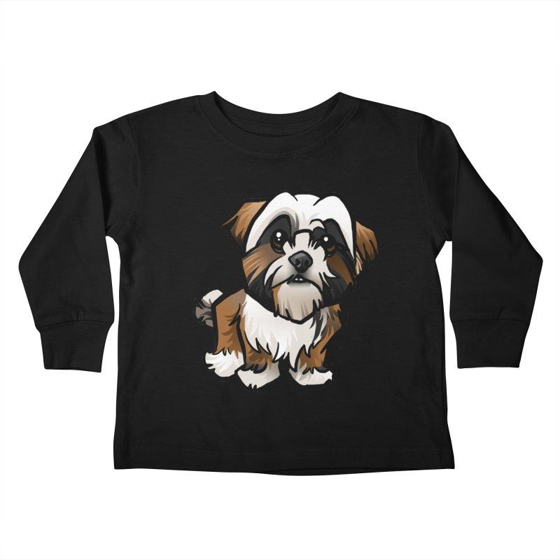 Shih Tzu Kids Toddler Longsleeve T-Shirt by binarygod's Artist Shop