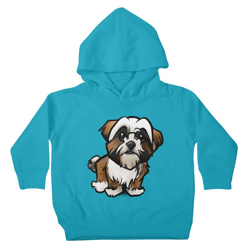 Shih Tzu Kids Toddler Pullover Hoody by binarygod's Artist Shop
