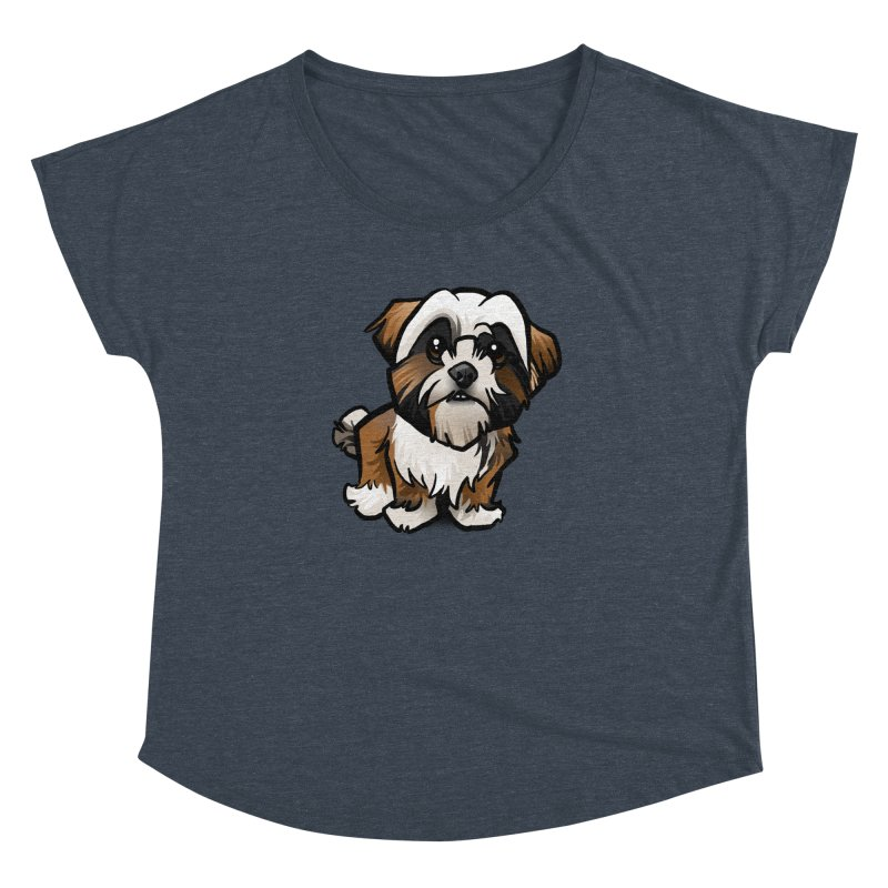 Shih Tzu Women's Dolman Scoop Neck by binarygod's Artist Shop
