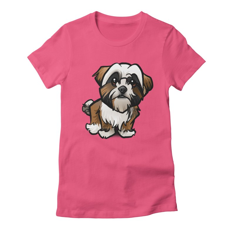 Shih Tzu Women's Fitted T-Shirt by binarygod's Artist Shop